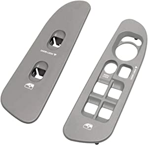 Driver & Passenger Taupe Door Window Switch Panel Bezel Compatible with Dodge 2002-2007 Ram 1500 2500 3500 Front Right & Left Seat