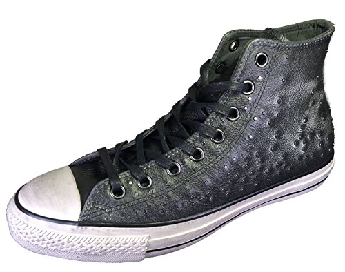 Converse by John Varvatos Distressed Studded Leather Hi Sneaker Silver (11 D(M) US - Hi Sneaker Star Leather