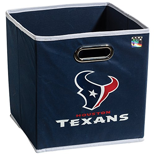 Franklin Sports NFL Houston Texans Fabric Storage Cubes - Made To Fit Storage Bin Organizers (11x10.5x10.5