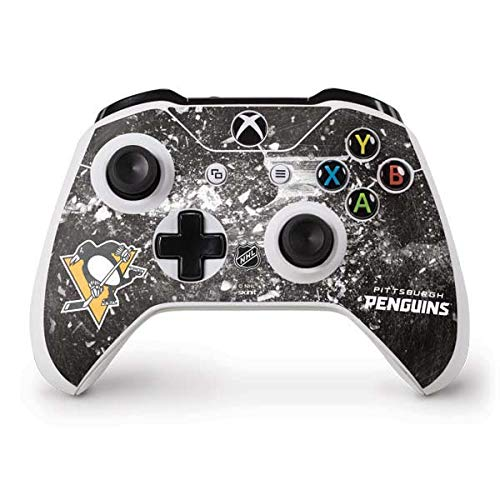 (Skinit Pittsburgh Penguins Frozen Xbox One S Controller Skin - Officially Licensed NHL Gaming Decal - Ultra Thin, Lightweight Vinyl Decal)