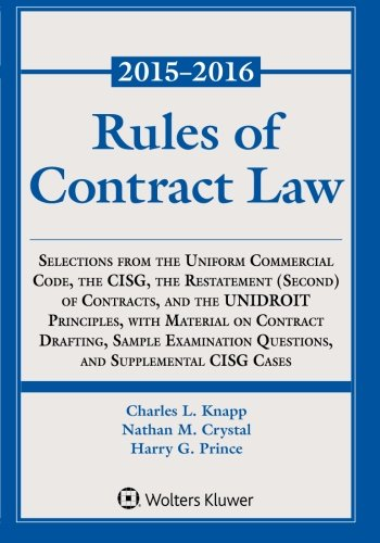 Rules of Contract Law Statutory Supplement (Supplements) PDF