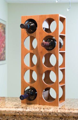 Lipper International 8305 Bamboo Wood Stackable 5-Bottle Wine Rack, 20-3/4'' x 5-3/8'' x 4-3/4'' by Lipper International (Image #3)