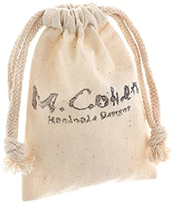 M.Cohen Handmade Designs Tan Wax Cord with Sterling Silver Stamp Bead