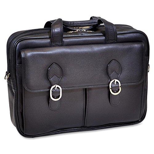 Park Computer (McKleinUSA HYDE PARK 15735 Black Double Compartment Laptop Case)