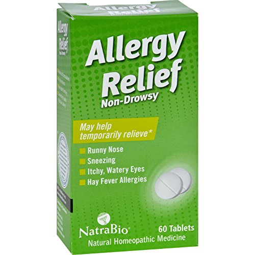 NatraBio Allergy Relief Non-Drowsy - 60 - Non Relief Allergy Bio Natra Tablets Drowsy