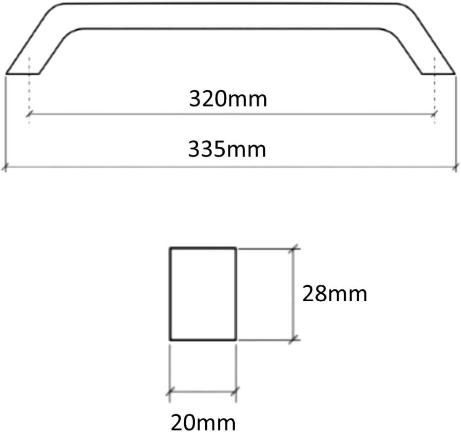 4X poign/ée de tiroir Placard Porte Meuble Armoire Brazos INOX 320mm C41505 AERZETIX