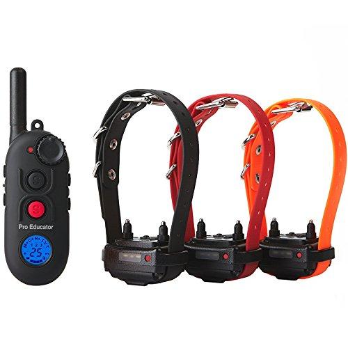 Educator Pro 1/2 Mile E-Collar Remote Dog Training Collar With Vibration, Tapping Sensation and Pavlovian Stimulation