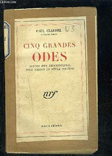 Cinq Grandes Odes [Pdf/ePub] eBook