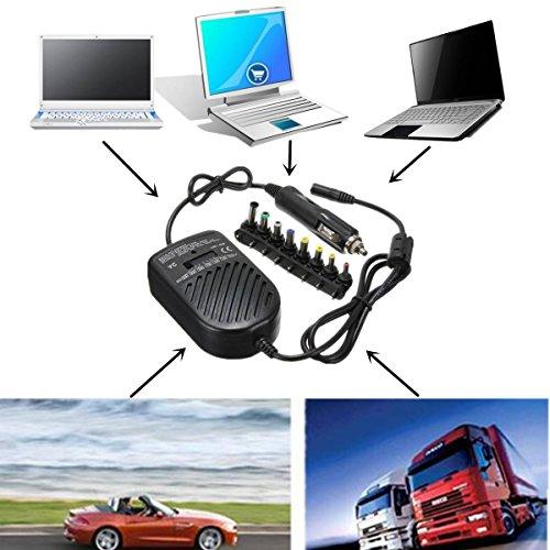 ELEGIANT 80W 15V 16V 18V 19V 20V 22V 24V KFZ Netzteil Auto Laptop Ladegerät Ladekabel mit Adapter für Laptop Notebook OVP