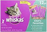 Whiskas Choice Cuts, Chef's Favorites Variety Pack, 12 ct, 3 oz
