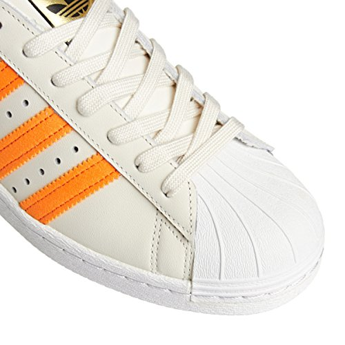 Adidas Originals Shoes - Adidas Originals Superstar 80s Shoes - Off White/Orange