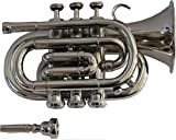 TRUMPET POCKET Bb NICKEL PLATED WITH BAG 7C MOUTH