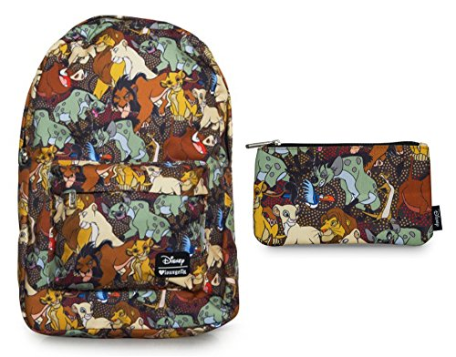 loungefly-disney-backpack-back-pack-pencil-case-bundle-set-the-lion-king-characters-all-over