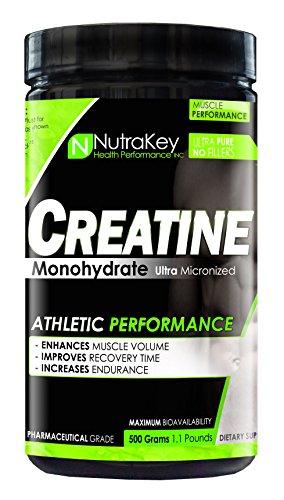 NutraKey Creatine Monohydrate, 500-Gram