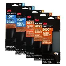 Set of 25 Sheets 3M Sandpaper 400 1000 2000 Grit WetorDry Auto Home Restoration