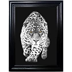BIG CATS FRAMED Holographic Wall Art-POSTERS That FLIP and CHANGE images-Lenticular Technology Artwork--MULTIPLE PICTURES IN ONE--HOLOGRAM Images Change--Technology by THOSE FLIPPING PICTURES