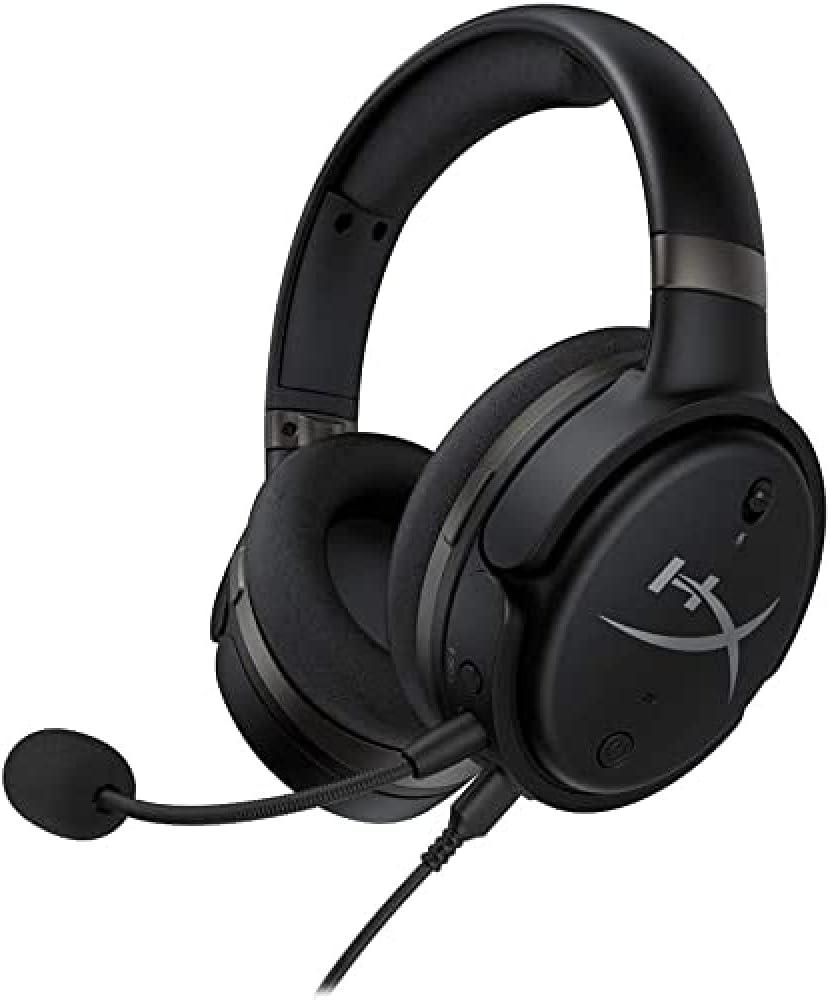 HYPERX CLOUD ORBIT S-게임용 헤드셋 3D 오디오 헤드 트래킹 PC XBOX ONE PS4 MAC 모바일 NINTENDO SWITCH 분리형 소음 제거 마이크가있는 평면 자기 헤드폰 POP 필터(HX-HSCOS-GM | WW)