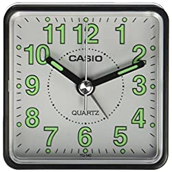 Casio - Tq-140-1Bef - Alarm Clock - Quartz - Analogue - Alarm - Black Leather Strap