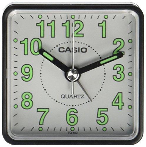Casio - Tq-140-1Bef - Alarm Clock - Quartz - Analogue - Alarm - Black Leather Strap ()