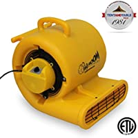 1/3 Horsepower Zoom Centrifugal Floor Dryer, Air Mover Commercial Quality Carpet Blower