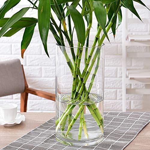 Jarrón de bambú con diseño de Cristal