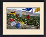 Framed Print of India, Ladakh, Leh, capital of Ladakh, red, yellow, blue, red, green and white