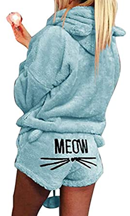 Socluer Pijama de otoño Invierno Mujer Pijama de Dos Piezas Ropa ...
