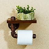 Creative bathroom Roll holder Paper towel holder phone stand Hand paper box Retro bathroom Toilets Shelf Paper Holder (Color : Copper)