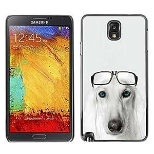 Be Good Phone Accessory // Dura Cáscara cubierta Protectora Caso Carcasa Funda de Protección para Samsung Note 3 N9000 N9002 N9005 // Saluki Hound Dog Breed Glasses Persian