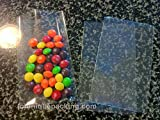 100 Pcs 3x5 (O) Clear Flat Cello / Cellophane Bags Good for Candies Cookie Treat