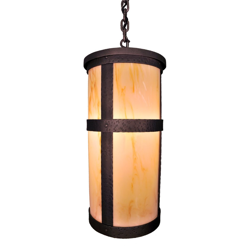 Steel partners lighting 7370 p open tall 2 mb open portland tall pendant with lid amber mica lens mountain brown finish amazon com