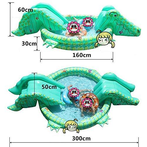 A LX inflatable toys Sommer Stil Aufblasbaren Pool Mit Rutschen Aufblasbare Spielzeuge, Nach Hause Multifunktionsburg Sand Pool Marine Ball Pool Spritzwasser Pool - 160  30cm A
