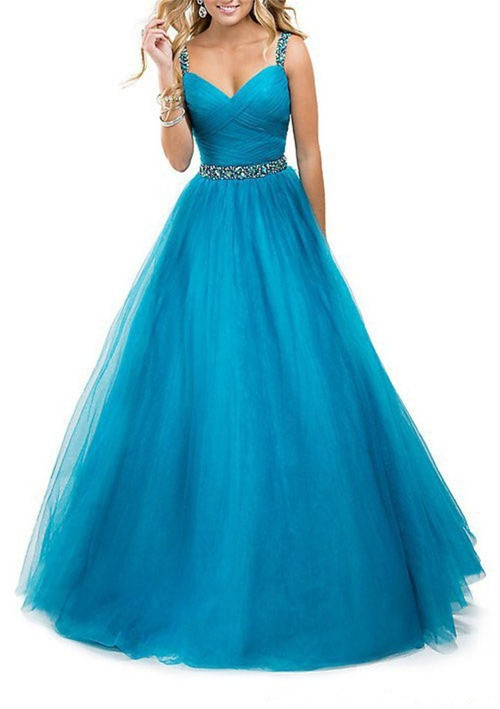 New Sexy Long Chiffon Evening Formal Party Wedding Prom Dress Ball Gowns 18W Blue by G-dress