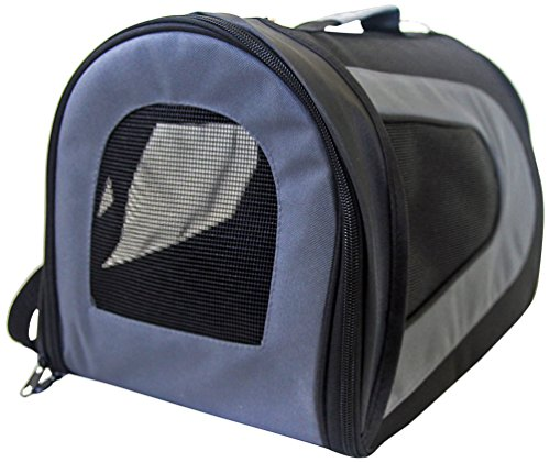 Iconic Pet FurryGo Universal Collapsible Airline Carrier, Small, Black