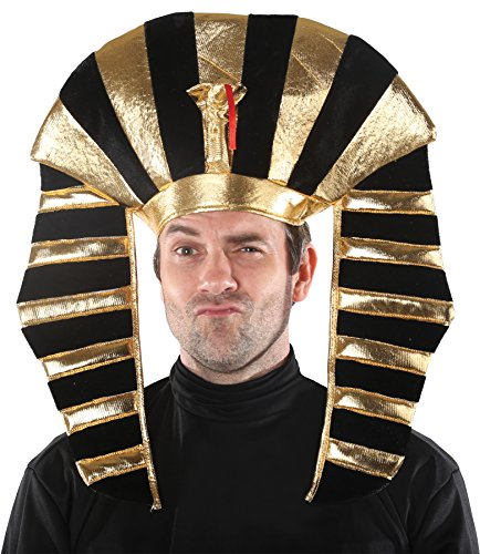 UHC EGYPTIAN KING TUT PHAROAH CROWN HEADPIECE HAT Halloween Costume Accessory