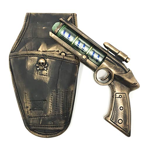 Steampunk Toy Gun + Holster Theater Prop with Spinning Galaxy Lights Handpainted Cosplay Costume Space Cowboy -