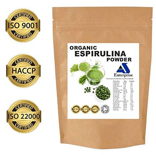 Tabletas Espirulina Orgánica Bio | Calidad superior 500 tabletas x 500mg | Certificación de Orgánico por