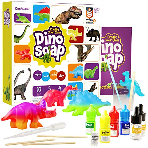 Dino Soap Making Kit for Kids - Dinosaur Science Kit for Kids: Great gift for girls and boys