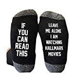 1Pair Printed Cotton Ankle Short Socks, Hallmark Movies Soft Breathable Socks Christmas Letters Printed Women Winter Warm Socks Gifts