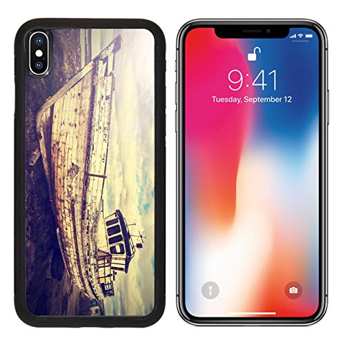 MSD Appreciation a scarce Apple iPhone X Aluminum Backplate Bumper Snap Case Vintage Old Boat on Junk Yard IMAGE 30118478