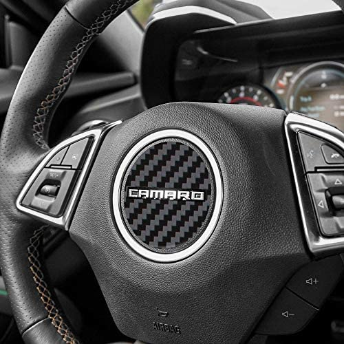 IPG for 2016-2020 Camaro Carbon Fiber Steering Wheel Accent Decal Cover Chevy Wrap Skin Do it Yourself Kit Decorative Stickers