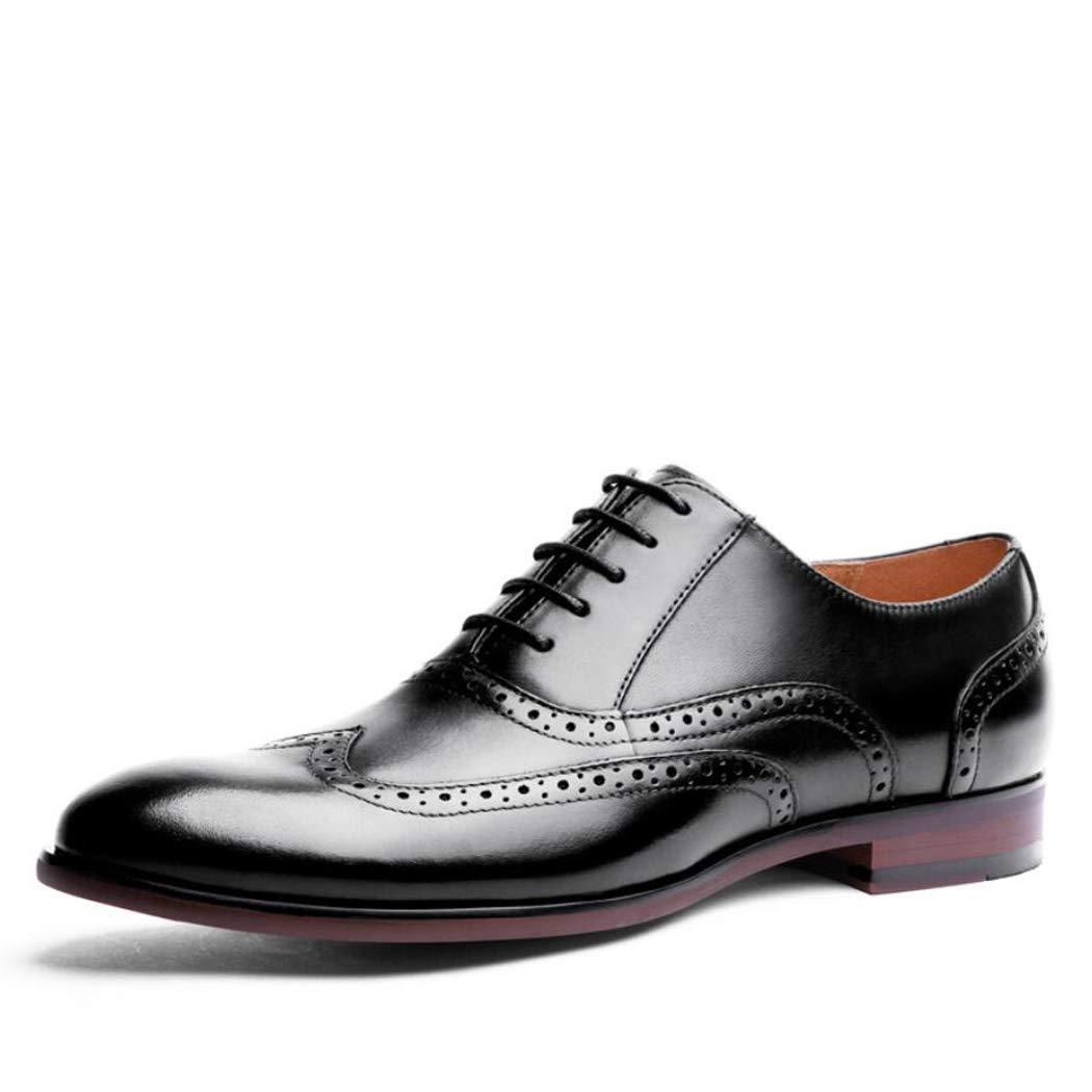 Zxcvb Lederschuhe Brock Herrenschuhe Geschnitzte Herrenschuhe Brock High-End-Gentleman Schuhe handgemachte Rub Farbe Handwerk große Größe Herrenschuhe b3bbce