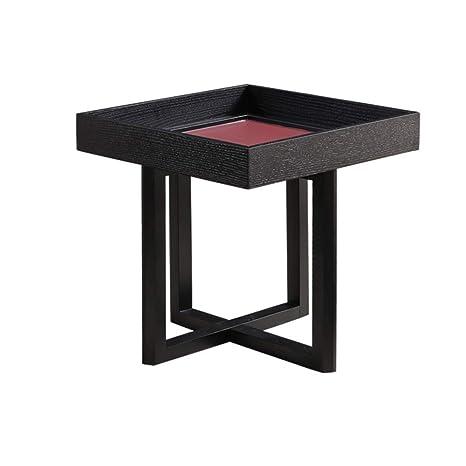 Wynzybz Black Coffee Table Nordic Modern Minimalist Solid Wood