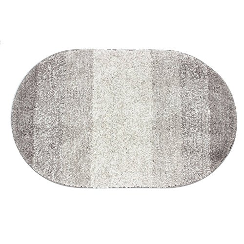 Small Oval Rugs (KEPSWET Super Soft Plush Gray Oval Bath Rug Mat 20