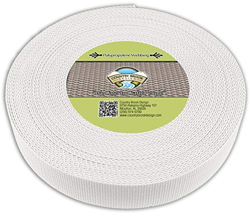 Country Brook Design - White Polypropylene 2 Inch Webbing (25 Yards)