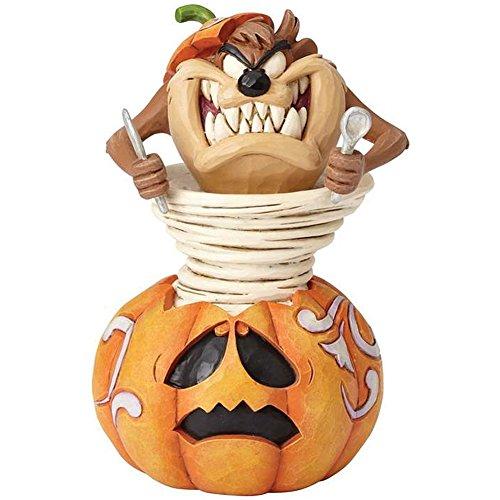 ENESCO CORPORATION Looney Tunes Taz Halloween Pumpkin Carving Stone Resin Figure - by Jim Shore ()