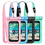 (4-Pack) Mpow Waterproof Case, Waterproof Cell Phone Dry Bag for iPhone Xs/XS Max/XR/X