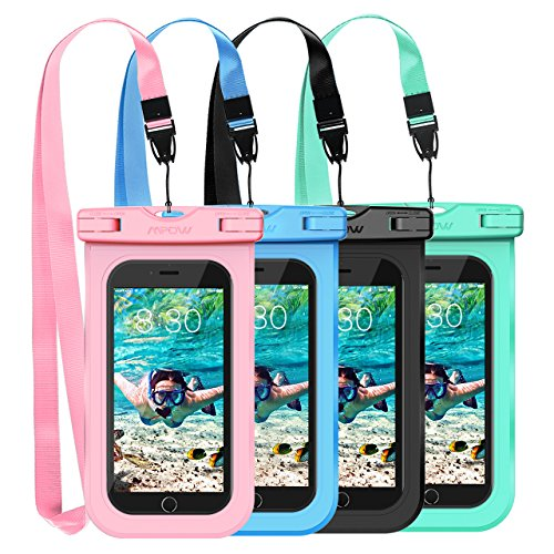 Mpow Waterproof Case, Universal IPX8 Waterproof Phone Pouch Underwater Phone Case Bag for iPhone X/8/8P/7/7P, Samsung Galaxy S9/S9P/S8/Note 8, Google Pixel/HTC up to 6.0'' (Pink Blue Black Green) by Mpow (Image #7)