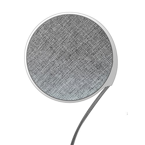 AMPLER Qi Wireless Charger Pad,Jean Fabric Wireless Charging Compatible iPhone Xs Max/XS / XR/X / 8Plus / 8 /and Samsung Galaxy Note 9 / S9/S9 Plus/S8/ S8 Plus/ S7/ S7 Edge and More