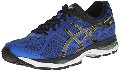 ASICS Men's Gel Cumulus 17 G TX Running Shoe, Mosaic Blue/Black/Lime Punch, 12.5 M US
